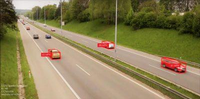 cctv speed detection showing vehicle speeds.