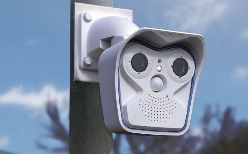 CCTV camera on lamp post.