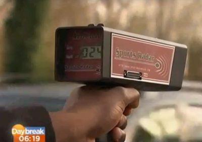 SRA 3600 speed gun